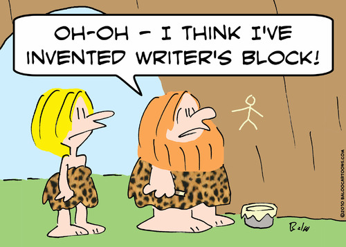 caveman writer's block